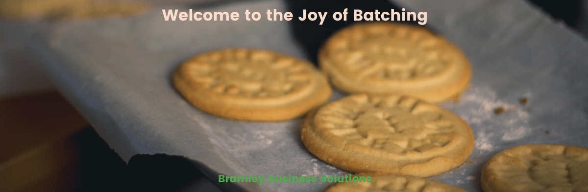 Batching - a batch of biscuits on a tray